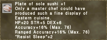 Plate of sole sushi +1