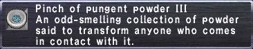 Pungent Powder III