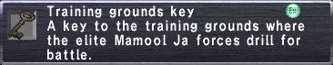 Training grounds key