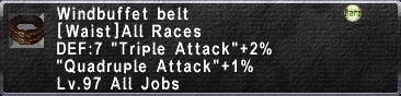 Windbuffet Belt