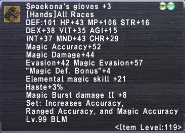 Spaekona's Gloves +3
