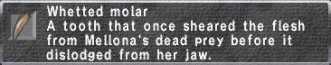 Whetted Molar description