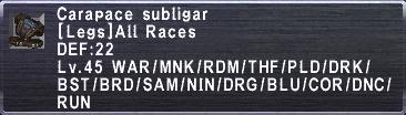 CarapaceSubligar