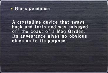 Glass pendulum
