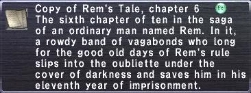 Rem's Tale, chapter 6