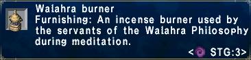 Walahraburner