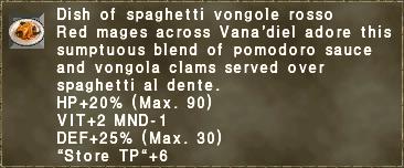 Dish of spaghetti vongole rosso