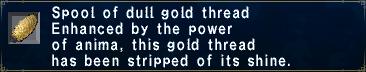 Dull Gold Thread