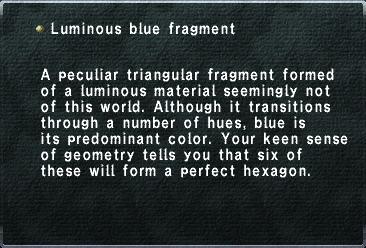Luminous Blue Fragment