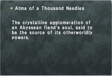 Atma of a Thousand Needles