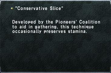 Conservative Slice