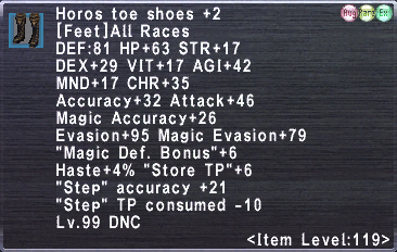 Horos toe shoes +2