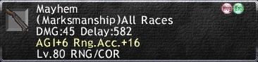 Mayhem AGI Racc