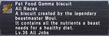 Pet Food Gamma