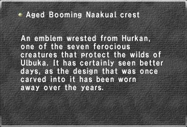 Aged Booming Naakual crest