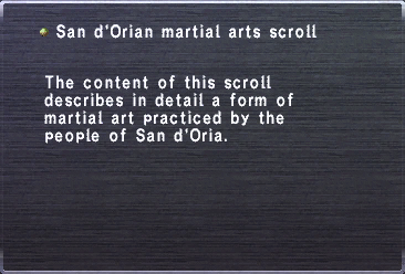 San d'Orian martial arts scroll