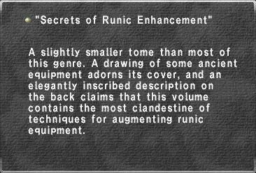 Secrets of Runic Enhancement