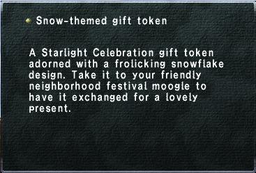 Snow themed gift token