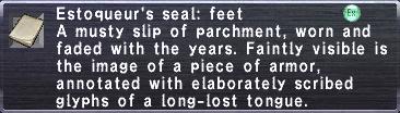 Estoqueur's seal feet