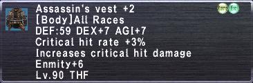 Assassin's Vest +2