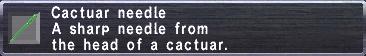 Cactuar Needle