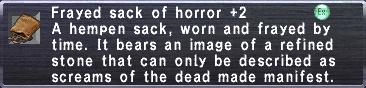 Frayed sack of horror +2
