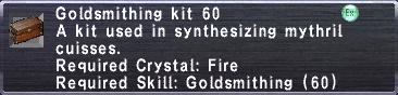 Goldsmithing Kit 60
