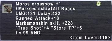 Moros Crossbow +1