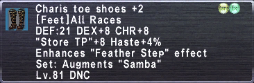 Charis toeshoes +2