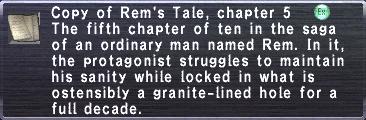 Rem's Tale, chapter 5
