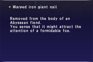 Warped Nail