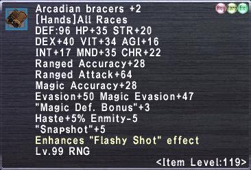 Arcadian bracers +2