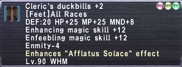 Cleric's Duckbills +2 (Augmented)