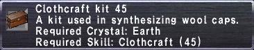 Clothcraft Kit 45