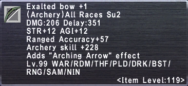 Exalted Bow +1