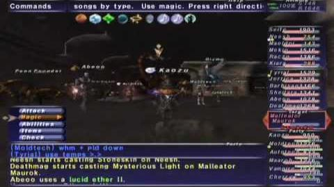 FFXI NM Saga 379 Malleator Maurok (Voidwatch NM) Full Battle