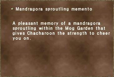 Mandragora sproutling memento