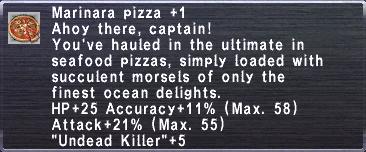 Marinara Pizza +1