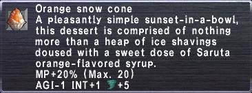 Orange Snow Cone