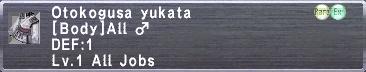 Otokogusa yukata M