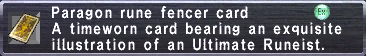 Paragon Rune Fencer Card
