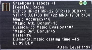 Spaekona's Sabots +1