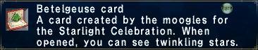 Betelgeuse card