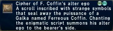 Cipher F. Coffin