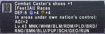CombatCastersShoes +1