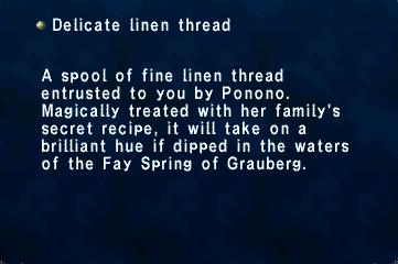 Delicate linen thread