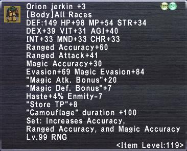 Orion Jerkin +3