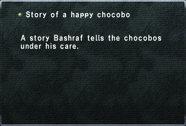 Story of a happy chocobo