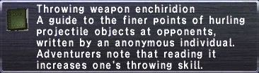 Throwing Weapon Enchiridion