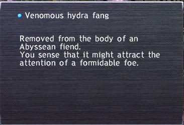 Venomous hydra fang